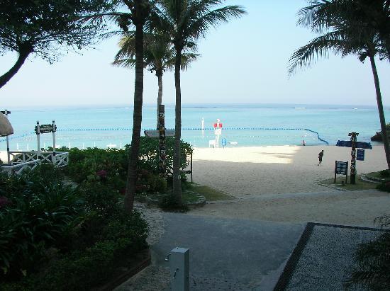 Hotel Moon Beach : プライベートビーチ