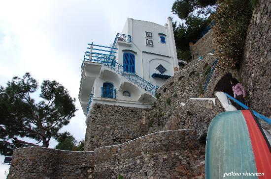 Villa San Michele: Vista Villa, con discesa a mare