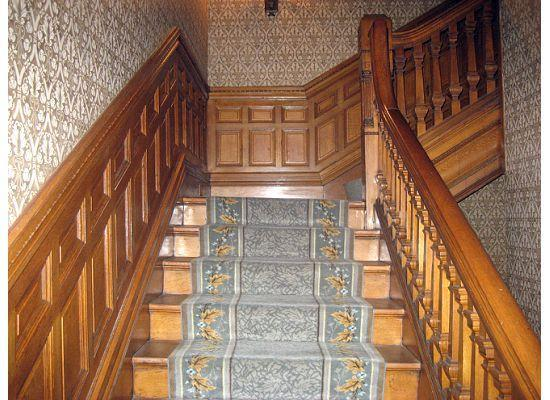 Wentworth Mansion: stairs, check out the woodwork