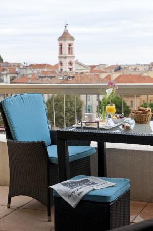 Hotel Aston La Scala : Terrasse des Chambres Deluxe