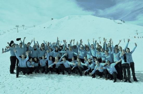 Macot-la-Plagne, France: l' équipe GO de la Plagne 2100 hiver 2010-2011
