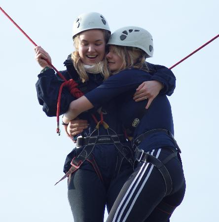 Skern Lodge Outdoor Activity Centre: High Ropes Course at Skern Lodge in North Devon
