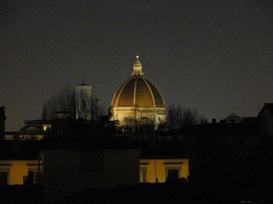 Orcagna Hotel: Duomo de la terrasse la nuit