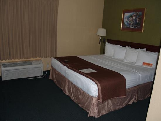 Quality Inn & Suites: King sized comfy bed