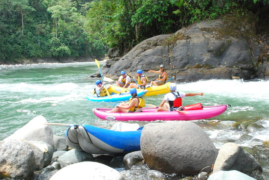 Quepoa Expeditions: at the waterfall