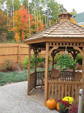 Courtyard Middlebury: our back courtyard and gazebo awaits you