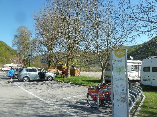 Aggsbach Markt, Austria: Campingplatz und Fahrradverleih