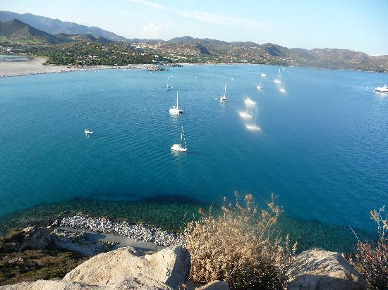 Villasimius, Italy: Spiaggia dall'alto