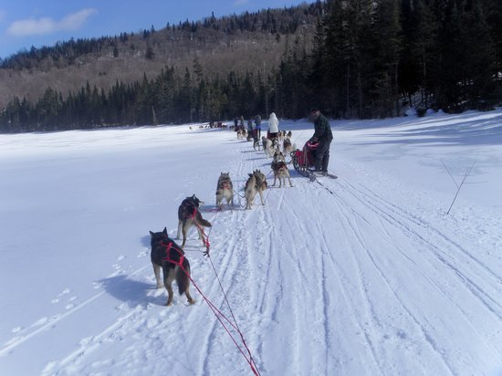 Mont Tremblant Activity Centre: over the frozen lake