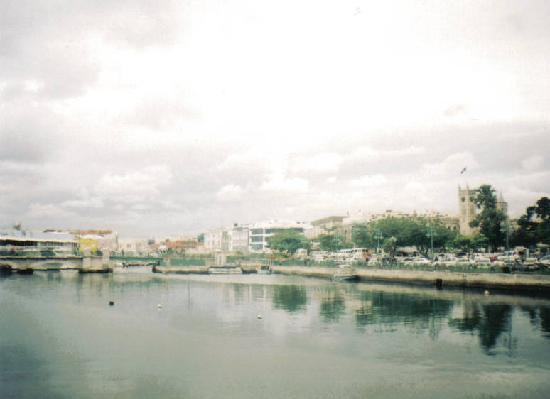 Bridgetown Barbados from Heroes Park