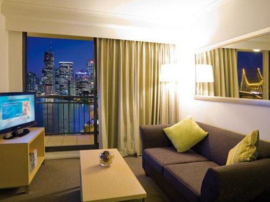 Oakwood Hotel & Apartments Brisbane : 1 Bedroom Apartment riverview