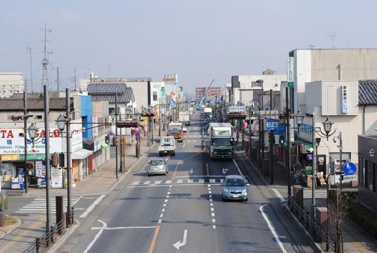 Ora-gun, Japan: 国道354号西小泉駅付近