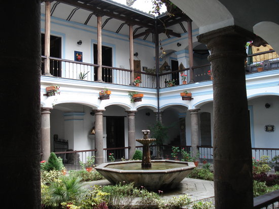 Quito, Equador: View of home's central courtyard