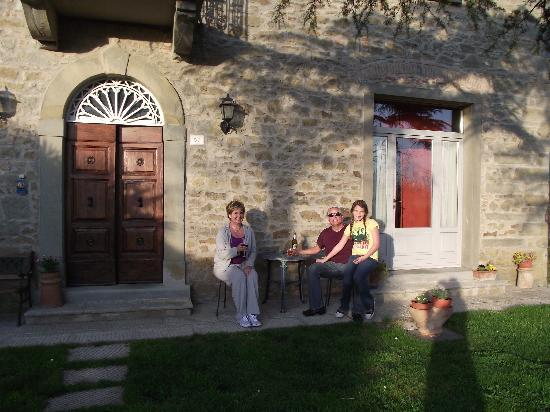 Il Palazzo B&B : Relaxing after our arrival at Il Palazzo.