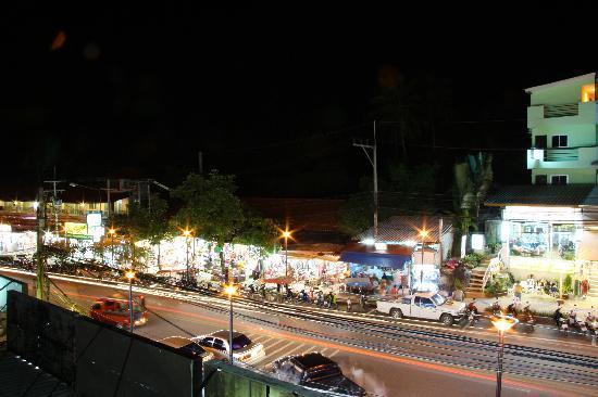 The Palace Ao Nang: street view at night