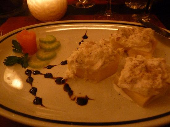 Vino Vino: my tasty cod fish and polenta starter