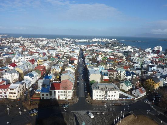 Reykjavik, Iceland: View from the top of the church
