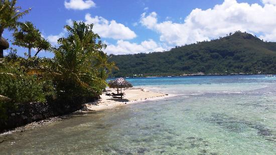 Sofitel Bora Bora Marara Beach Resort : Beach and banana leaf lounge chairs