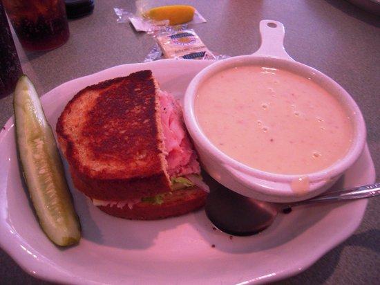 Baker's Restaurant: Crab Bisque & 1/2 Sandwich
