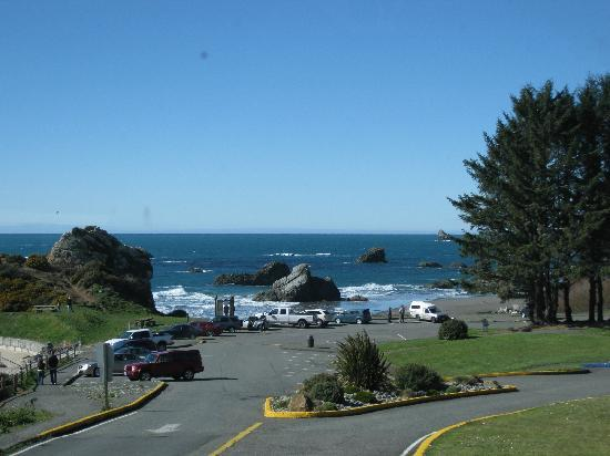 Brookings, Oregón: Harris Beach State Park - day use parking area