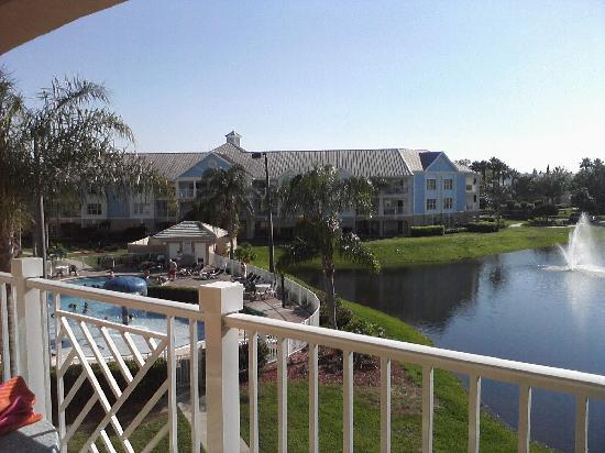 Summer Bay Orlando By Exploria Resorts: view of one of the pools from our balcony