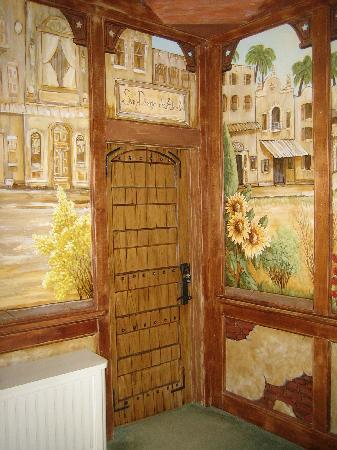 The Mission Inn: Each room modelled after a real spanish mission.