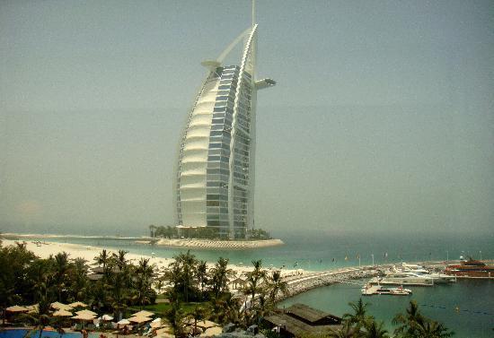 Jumeirah Beach Hotel: Burj Al Arab from junior suite window