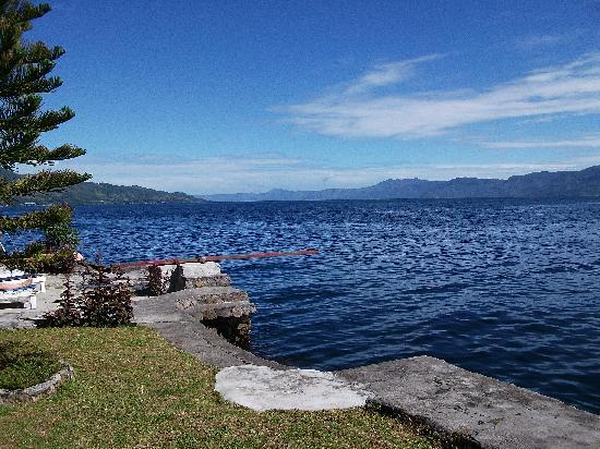Samosir Cottages resort: The view the other way