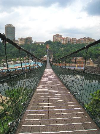 Sunway Lagoon Theme Park : suspension bridge