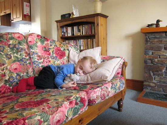 Kionslieu Farm Cottages: la sieste dans le séjour baigné de lumière