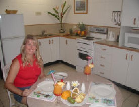 Palm View Holiday Apartments: kitchen in standard 1 bedroom apartment