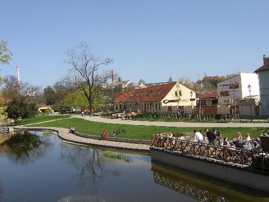 Green Gondola Pilsen: Blick von der Brücke