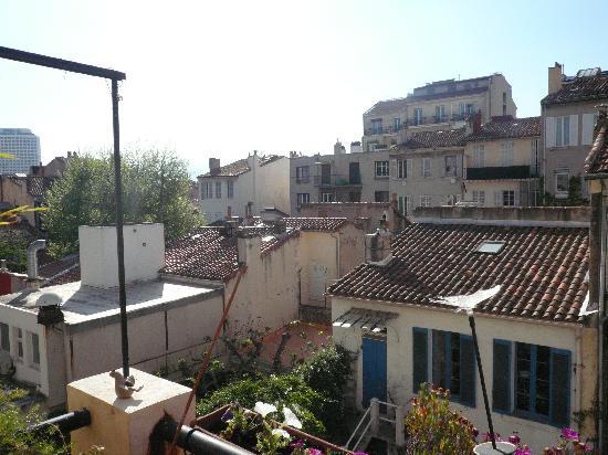 Bn'b Romain & Pascal : Blick von der Terrasse BB Romain