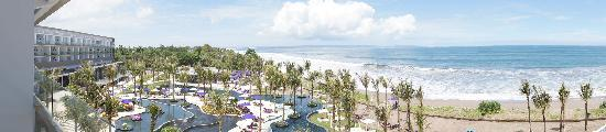 W Bali - Seminyak: Panoramic view from our balcony