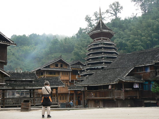 Liping county, Chiny: Zhaoxing-La torre del tamburo