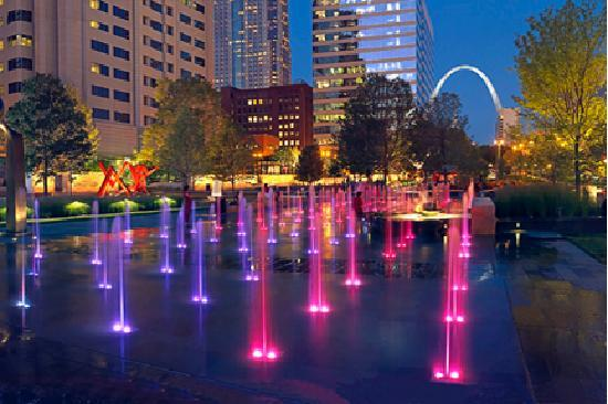 Saint Louis, MO: Citygarden in downtown St. Louis