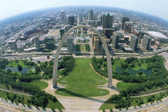Saint Louis, MO: Downtown St. Louis from above