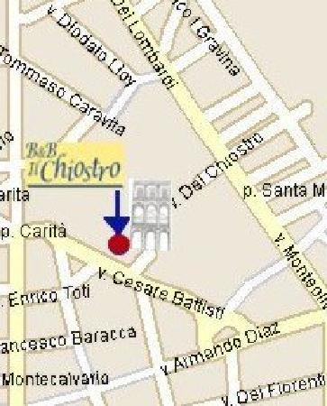 Il Chiostro: mappa