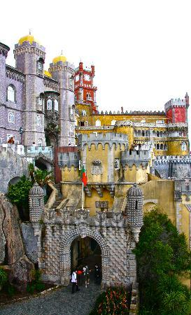 Leaving the Castle, Sintra, Portugal