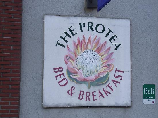 The Protea Bed & Breakfast: Protea B&B sign