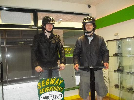 Segway Adventures Ireland: ready to get going:)