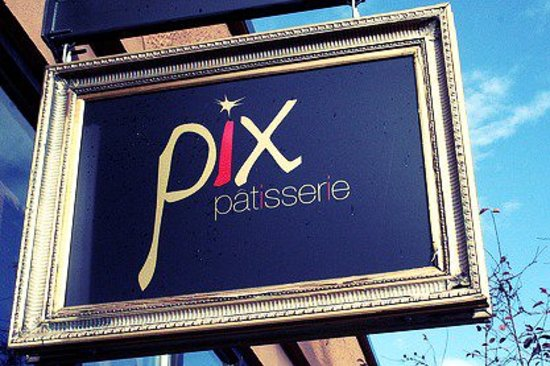 Pix Patisserie: sign