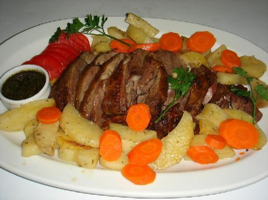 dokos taverna: roast lamb dinner