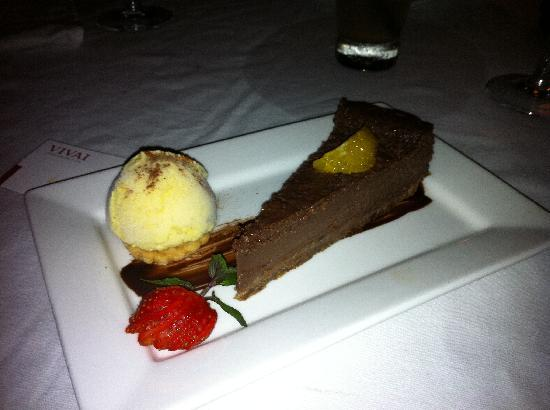 Vivai Restaurant: Chocolate whiskey cake