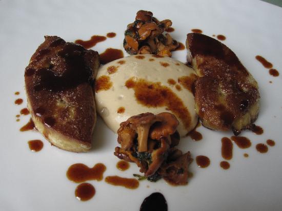 Château de Courcelles: foie gras crémeux de cèpes