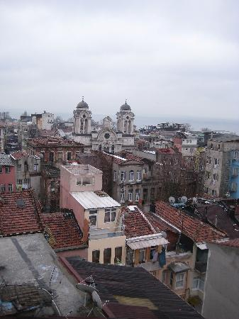 Tayhan Hotel : view from hotelroom (not best weather..)