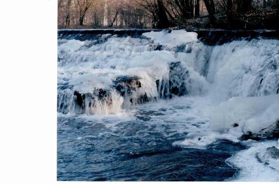 Parco di Monza: cascata ghiacciata