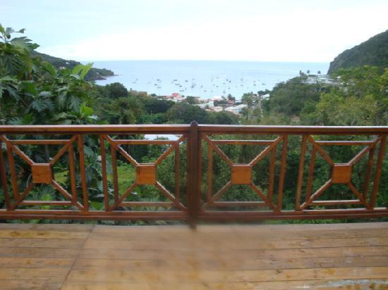 Residence Les Hauts de Deshaies: vue de la terrasse
