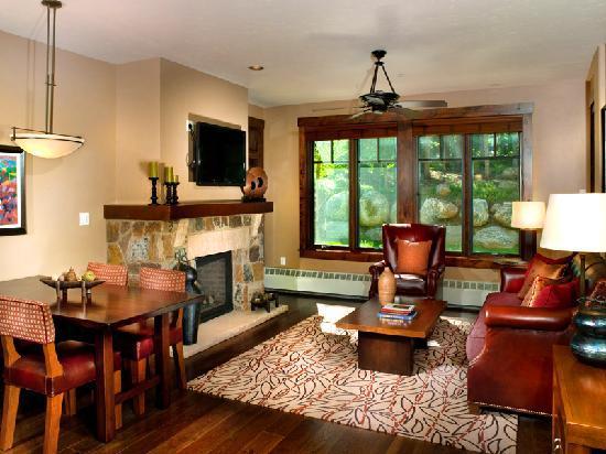 Living Room (Condo 5111)  at Water House on Main Street Breckenridge, a ResortQuest resort