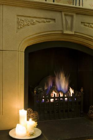 The Fisherbeck : The fire in the cosy guest lounge